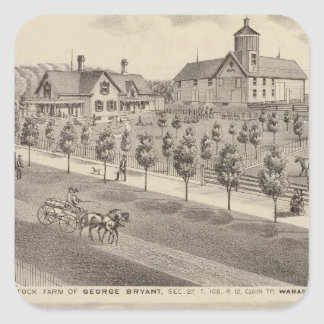 Residences and Farm, Minnesota Square Sticker