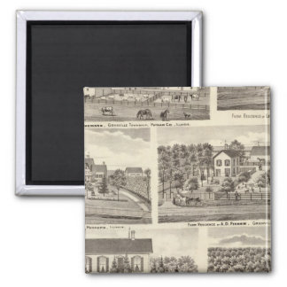 Residences and farm residences in Putnam Co 2 Square Magnet