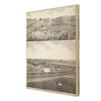 Residences and Farms of Eldridge, Minnesota Canvas Print