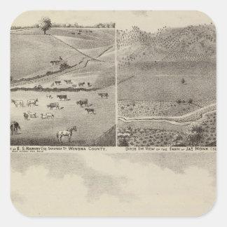 Residences and Farms of Eldridge, Minnesota Square Sticker
