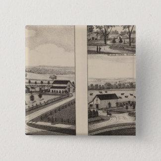 Residences and Farms, Pottawatomie, Kansas 15 Cm Square Badge