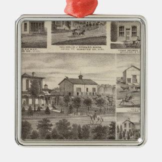 Residences, businesses, and Town of Eyota Christmas Ornament
