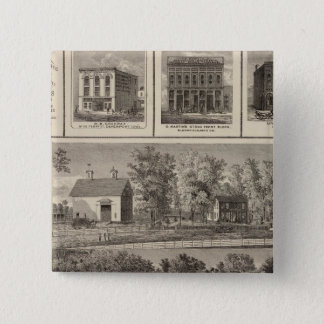 Residences & businesses in Muscatine 15 Cm Square Badge