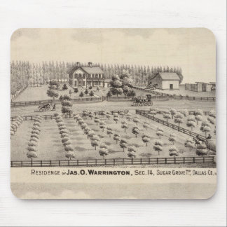 Residences & farm of Warrington Mouse Mat