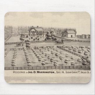 Residences & farm of Warrington Mouse Pad