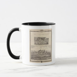 Residences & farm of Warrington Mug