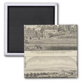 Residences, Farms, and Horses of Kansas Square Magnet