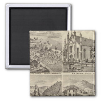Residences, Farms, Brewery and Stable, Minnesota Square Magnet