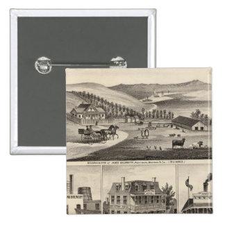 Residences, farms, businesses 15 cm square badge