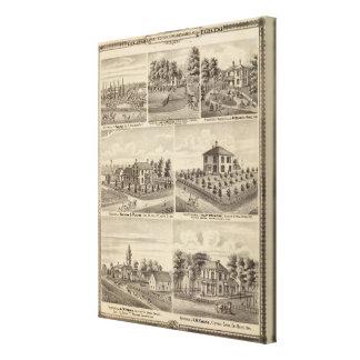 Residences, farms in Polk Canvas Print