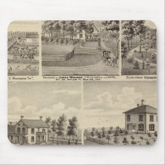 Residences, farms in Polk Mouse Mat