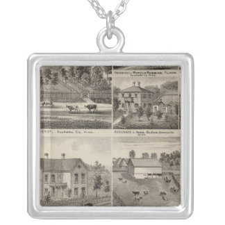 Residences in Amherst and Fillmore, Minnesota Silver Plated Necklace