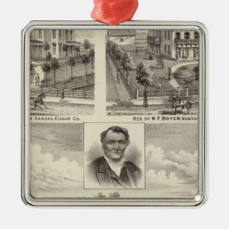 Residences in Edgar County Illinois Christmas Ornament