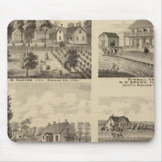 Residences in Linn and Desoto, Dallas Co, Iowa Mouse Mat
