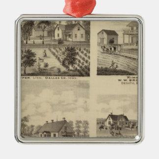 Residences in Linn and Desoto, Dallas Co, Iowa Silver-Colored Square Decoration