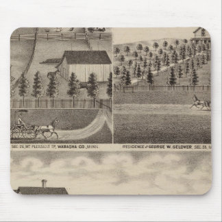 Residences in Mt. Pleasant, Minnesota Mouse Mat