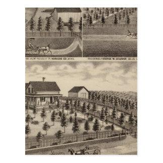 Residences in Mt. Pleasant, Minnesota Postcard