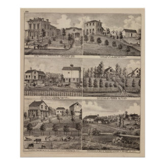 Residences in Rochester and in Dodge, Minnesota Poster