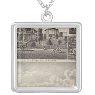 Residences in Rochester, Minnesota Silver Plated Necklace