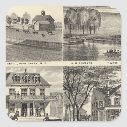 Residences in West Creek, Oceanport, NJ Square Stickers