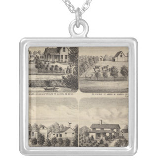 Residences, Minnesota 2 Silver Plated Necklace