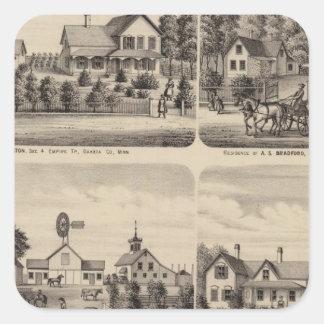 Residences, Minnesota 3 Square Sticker