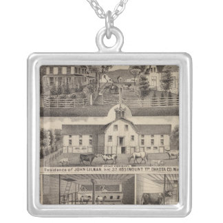 Residences, Minnesota 4 Silver Plated Necklace
