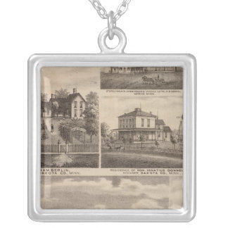 Residences, Minnesota 5 Silver Plated Necklace