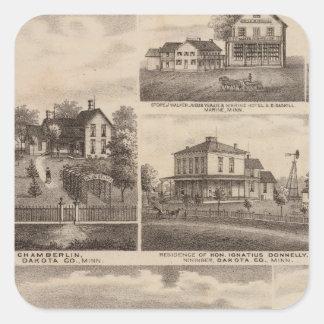 Residences, Minnesota 5 Square Sticker