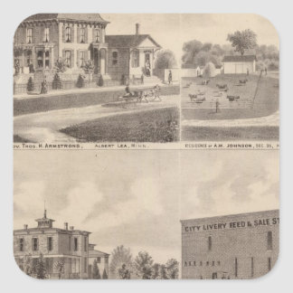 Residences, Minnesota 6 Square Sticker