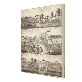 Residences, Minnesota Stretched Canvas Print