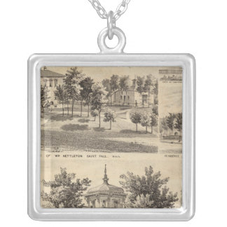 Residences, Minnesota Silver Plated Necklace