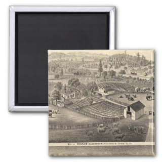Residences of Charles Alexander Magnet
