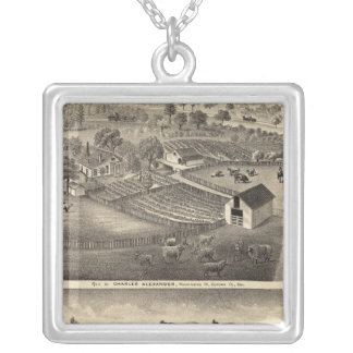 Residences of Charles Alexander Silver Plated Necklace
