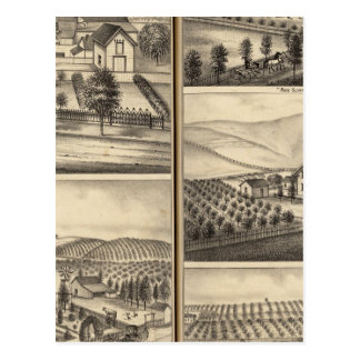 Residences of CP Hatch, Wm Sexton, JM Freeman Post Cards