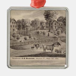 Residences of DB Murrow and Geo Crawford Christmas Ornament