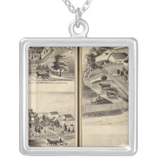 Residences of DG Heald, JM Bowles Silver Plated Necklace
