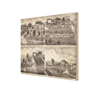 Residences of Greenwood, Carroll, Minnesota Canvas Print