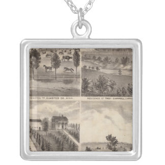 Residences of Greenwood, Carroll, Minnesota Silver Plated Necklace