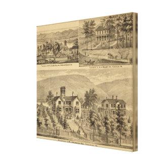Residences of HJ Murdoch Canvas Print