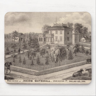 Residences of J Butshall and DM Flinn Mouse Mat