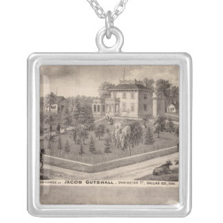 Residences of J Butshall and DM Flinn Silver Plated Necklace