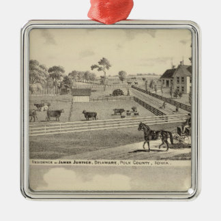 Residences of J Justice Christmas Ornament