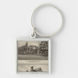 Residences of JR Fisher and MP Simpson Kansas Key Chains