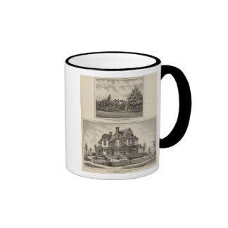Residences of JR Fisher and MP Simpson, Kansas Ringer Mug