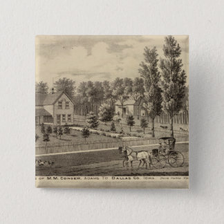 Residences of MM Conger and GW Harrison 15 Cm Square Badge