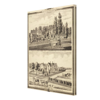 Residences of MM Conger and GW Harrison Canvas Print