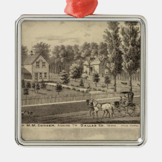 Residences of MM Conger and GW Harrison Christmas Ornament
