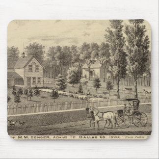 Residences of MM Conger and GW Harrison Mouse Mat