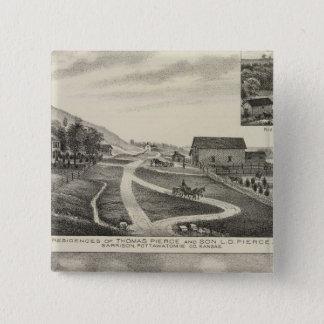 Residences of Pierce and Cooper, Kansas 15 Cm Square Badge